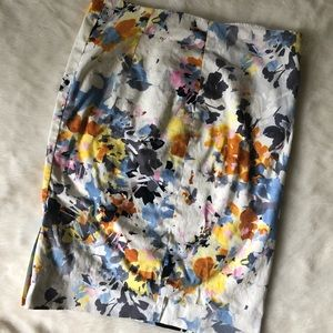 The Limited floral pencil skirt 2